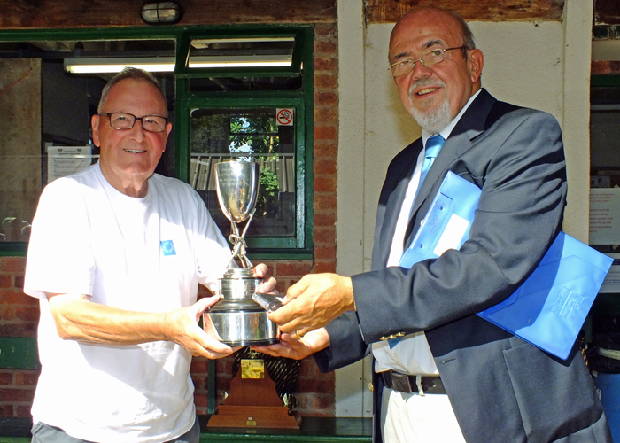 Photograph shows SSRA Chairman - Richard Tilstone (pictured right), presenting the Swynnerton Cup to Mike Willcox (pictured left).
