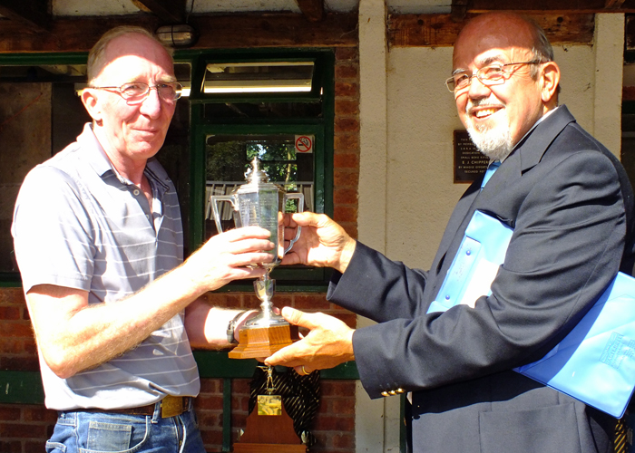 Photograph shows SSRA Chairman - Richard Tilstone (pictured right), presenting the Albert Greatrex Cup Steve Rowe (pictured left).